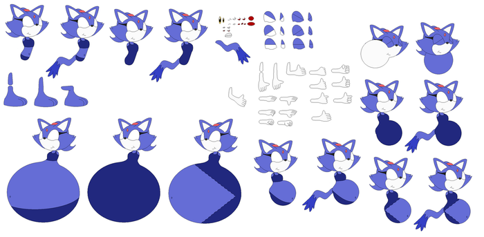 Character Builder Marsha The Cat Swimsuit by Sarah-The-Fox2
