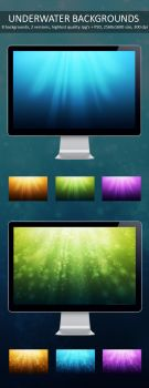 Underwater Backgrounds by M3-f-web