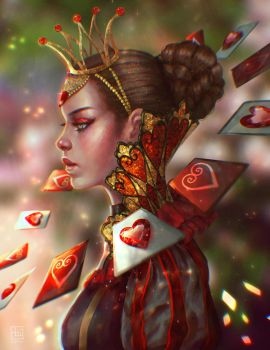 Rewritten Artbook: Queen of Hearts by serafleur