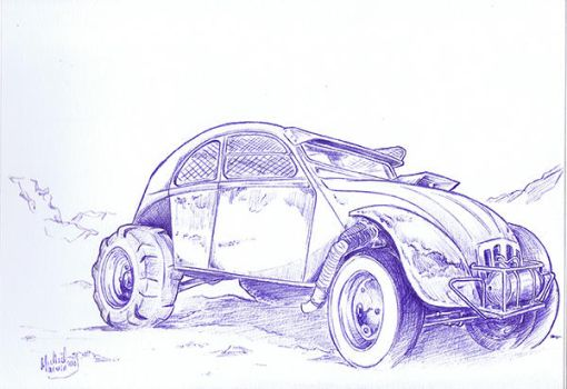 2cv Mad Max by lantredumaitre