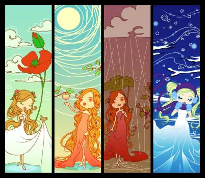 Four Seasons - bookmarks by Marc-G
