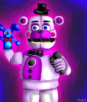 Funtime Freddy with Bonbon by Radrim