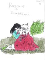 inuyasha and kagome together by robjohnmarie
