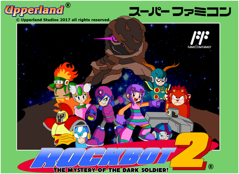 Rockbot 2 - Famicom style cover by protomank