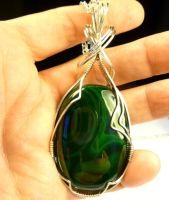 Malachite Necklace by wheeter