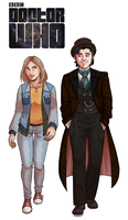 Commission: The Doctor and Jessie by GreenLiquidBrain