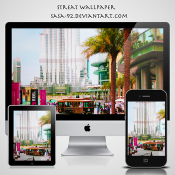 street wallpaper for iPhone and iPad and mac by sasa-92