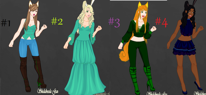 Female Human Adoptables OPEN!! by Japril1000