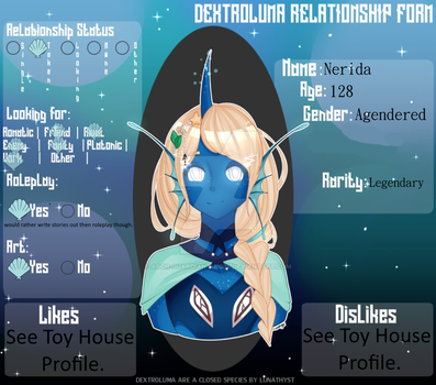 {Relationship Form} Nerida by Arch-Guardian-Angel