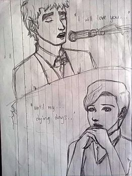 Klaine Sketch 1 by my-last-song