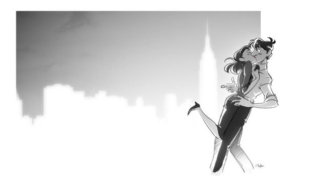 paperman - now kiss by chirart