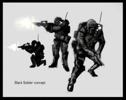 Black Soldier concept by Talros