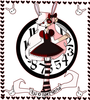 Time bunny in WONDERLAND by MayaBlue77