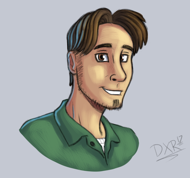 May 2017 - Weekly Sketch 3 - Self Portrait by Duaxer