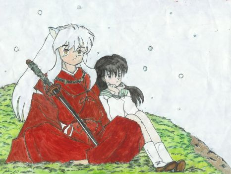 Inuyasha and Kagome by harukaze