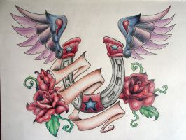wings and roses by jynxme128