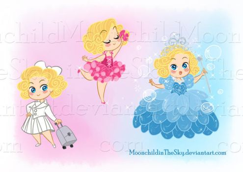 CHIBI GLINDA by MoonchildinTheSky