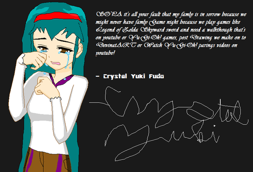 Now SOPA made Crystal cry! by JohanAndersen1