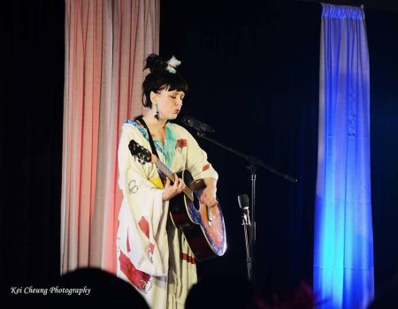 Kagura with guitar 3 by DarkOneCosplay