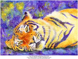 Lounging Tiger by Nicole-Marie-Walker