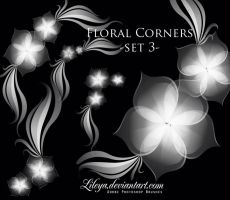 Floral Corners set 3 by Lileya