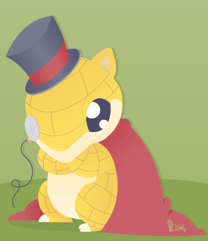 Dapper Sandshrew by heroic-moose