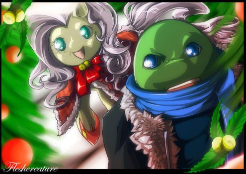 TMNT and My Little Pony_FRIENDSHIP 2 by FleshCreature