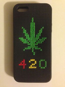 420 iPhone 5/5s Cross Stitch Case by ChaseYoungFangirl