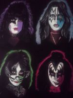 Kiss Acrylic Painting by Orion12212012