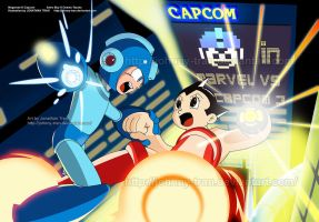 Megaman Vs Astro by Johnny-Tran