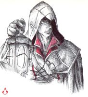 Ezio - Through the Darkness by SixthIllusion