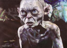 Gollum Ballpoint Pen Drawing by TheKrystleGallery