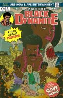 Black Dynamite promo colors by DustinEvans