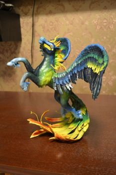 Pegasus from velvet clay by IlonaDi