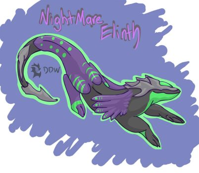 Nightmare Dragon Elinth by dark-dragon-wings