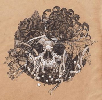 Coffee skull by urielstempest