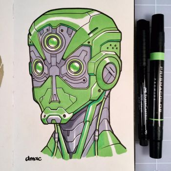 March of Robots Day 17: Happy St. Patrick's Day by D-MAC