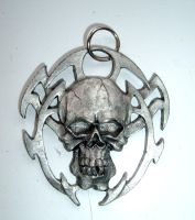dark skull pendant stock by Aethergoggles-Stock
