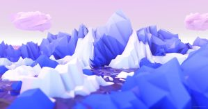 Fluffy Low Poly Environment by StephanieStutz