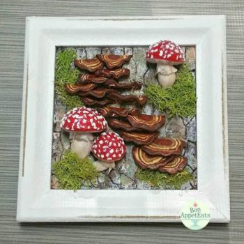Bark and Mushroom Picture Frame by Bon-AppetEats