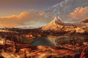 Cathedral Peak by chateaugrief