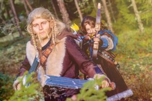 Ready for the battle - Fili and Kili by SaaraZ