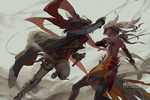 Fight - sketch for Patreon by shilin