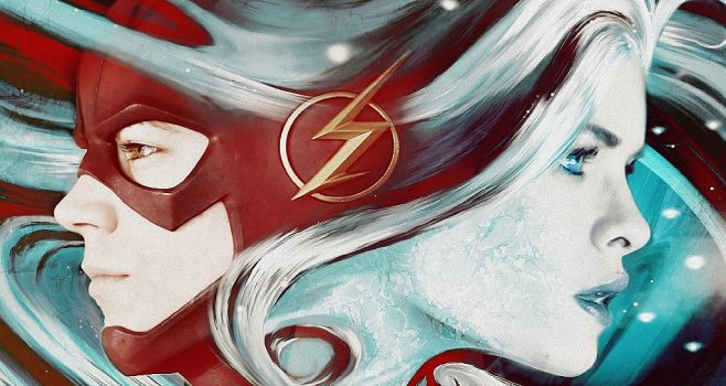 Killer Frost and Flash by RussiaNet