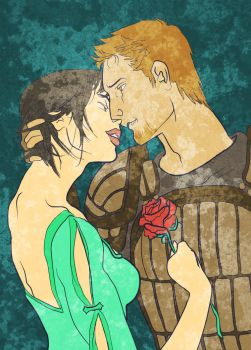 (COMMISSION) Lena Amell and Alistair by toupele