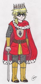 Hansi II, the Ace-King of Diamonds -coloured- by Grey-Wyvern