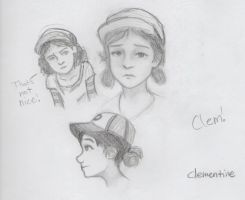 Clementine from The Walking Dead by drawing-wannabe