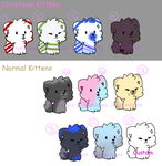 Kitty (Some Christmas) adopts (Open) by StantheGamingdog