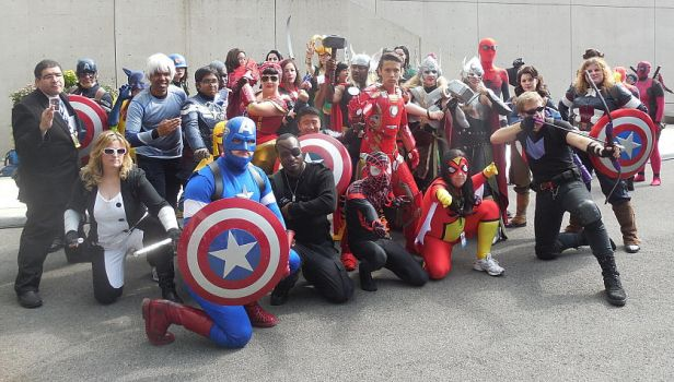 Avengers Group Photo at New York Comic-Con 2015 by R-Legend
