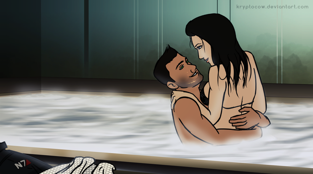 Mass Effect: ...And there's a hot tub. by kryptocow